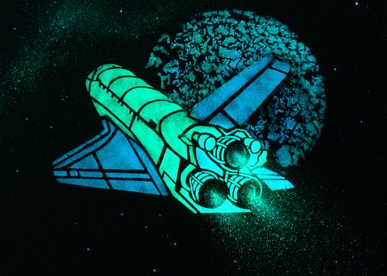 Dekorace Stropu, Hvězdný Strop, malování Raketoplánu