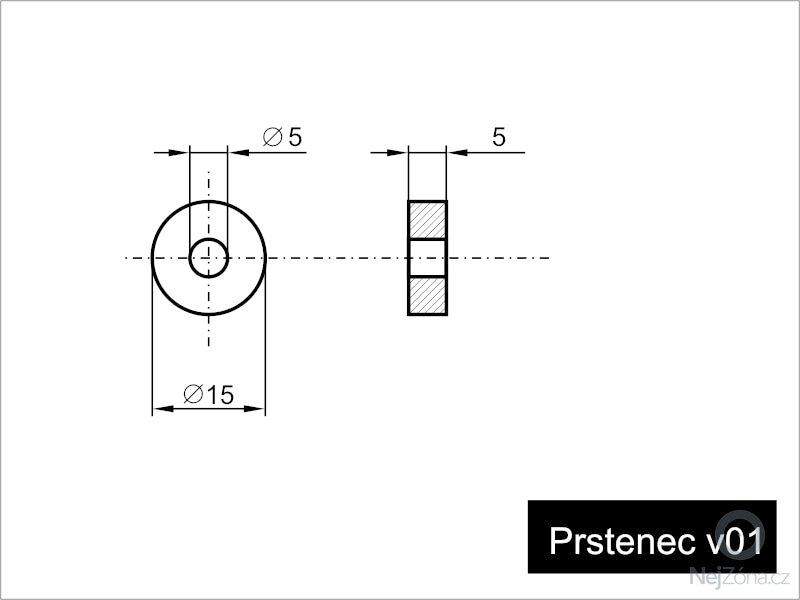 Výroba kovových (AL / FE) prstenců: schema-prstenec