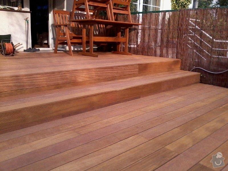 Pokládka terasy z exotického dřeva,: Fotografie0046
