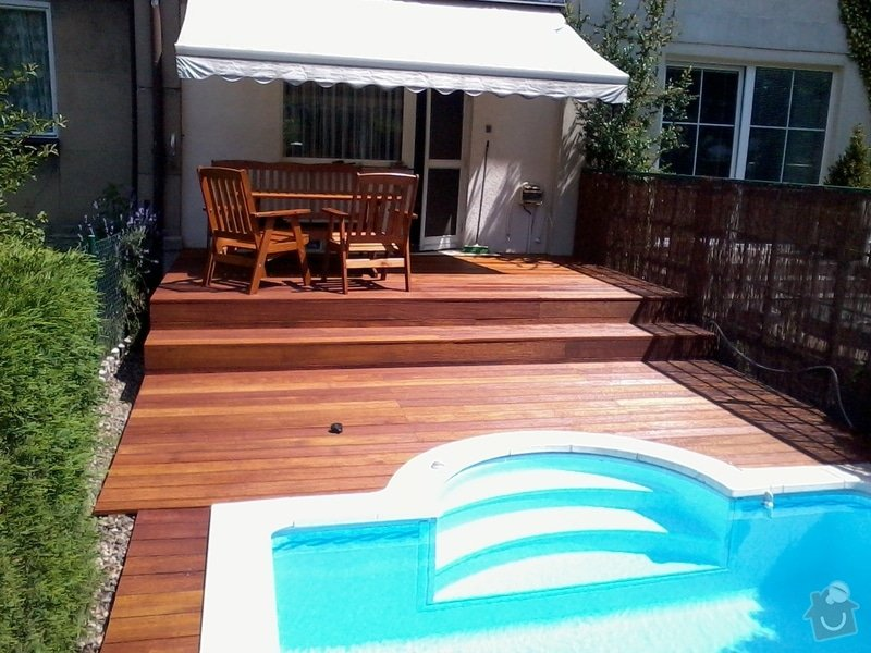 Pokládka terasy z exotického dřeva,: Fotografie0052