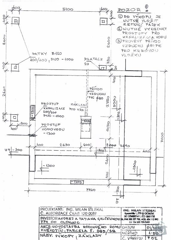 Stavba (dřevostavba) malého domku a zakladova deska: SCAN0000