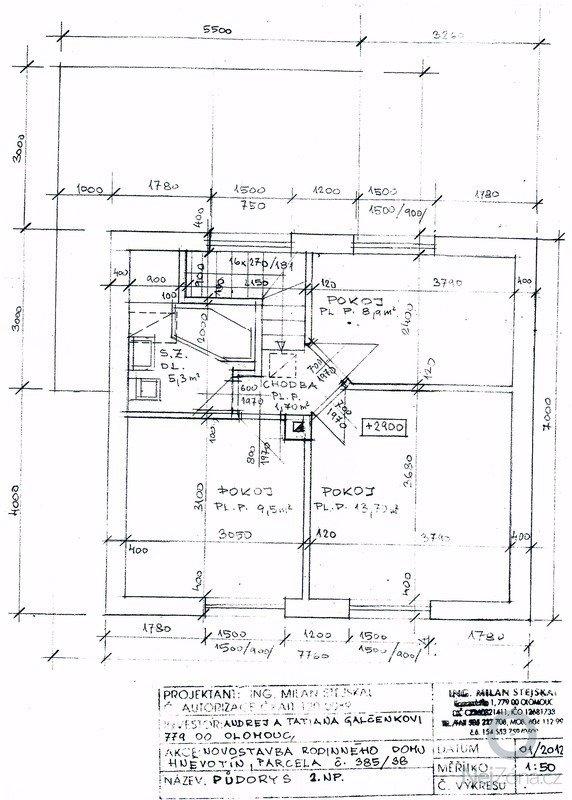 Stavba (dřevostavba) malého domku a zakladova deska: SCAN0110