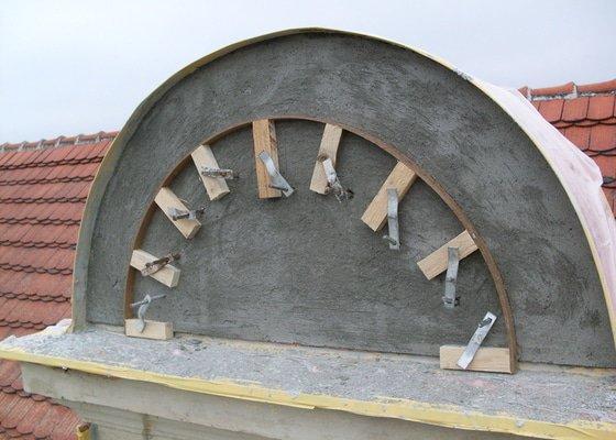 Rekonstrukce historické secesní fasády - Cukrárna v Mirovicích