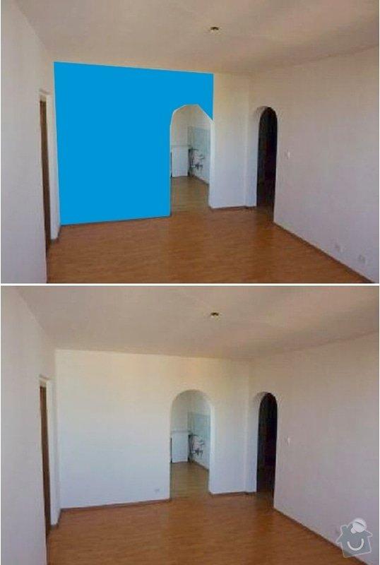 Vybourání části zdi - zeď není nosná: Pricka