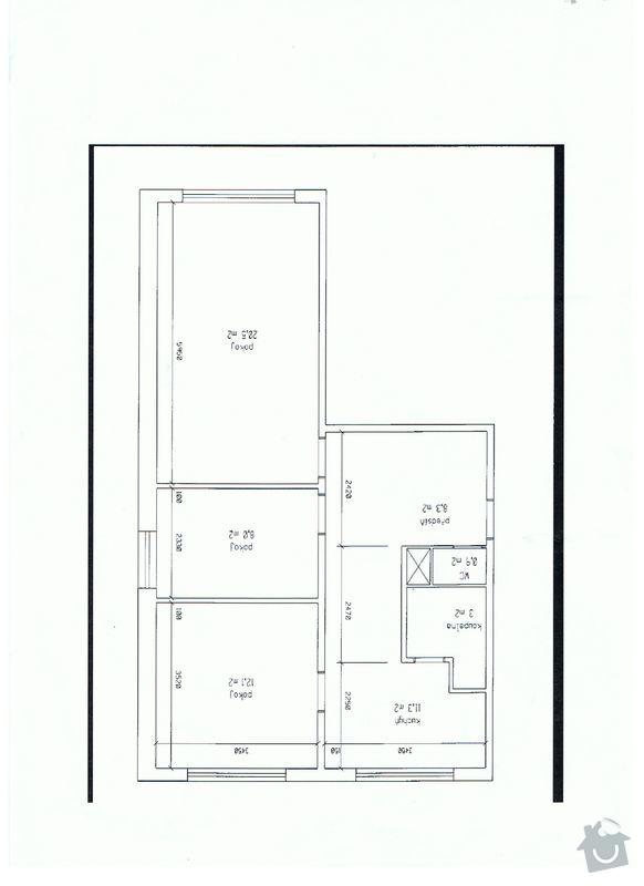 Rekonstrukce koupelny, kuchyně: Byt
