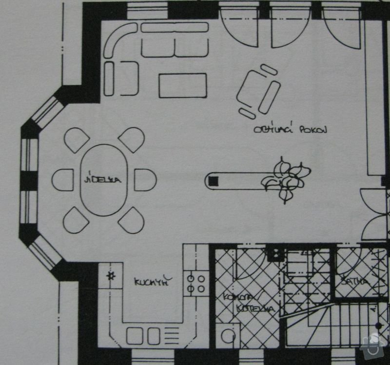 Výměna kuchyňské desky, dřezu a baterie a broušení podlahy 48m2: Podlaha_rozmer