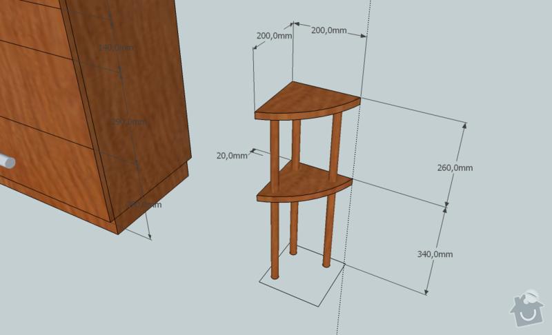 Komoda a stoleček: komoda2-2