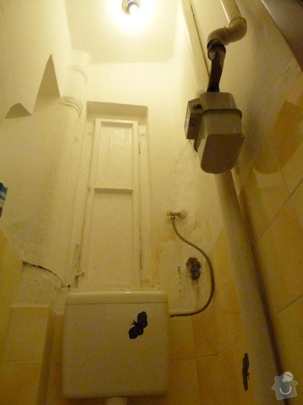 Zednické práce (bourání a zdění): WC