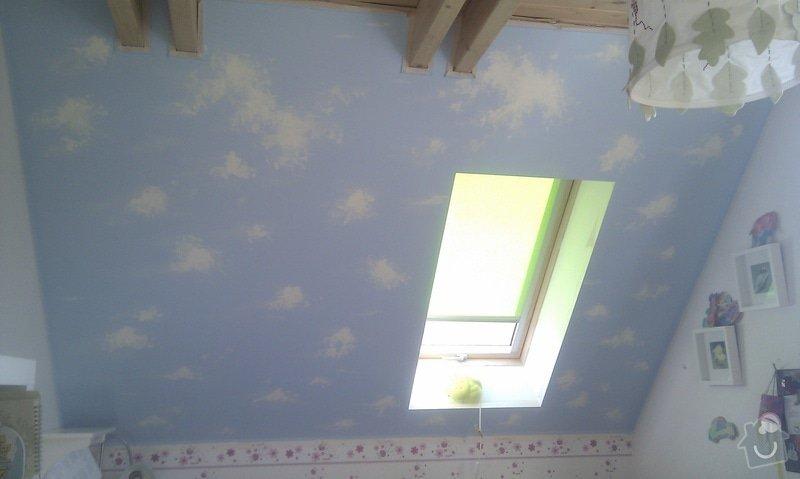 Hvězdný strop na šikminu v dětském pokoji.: IMAG1905