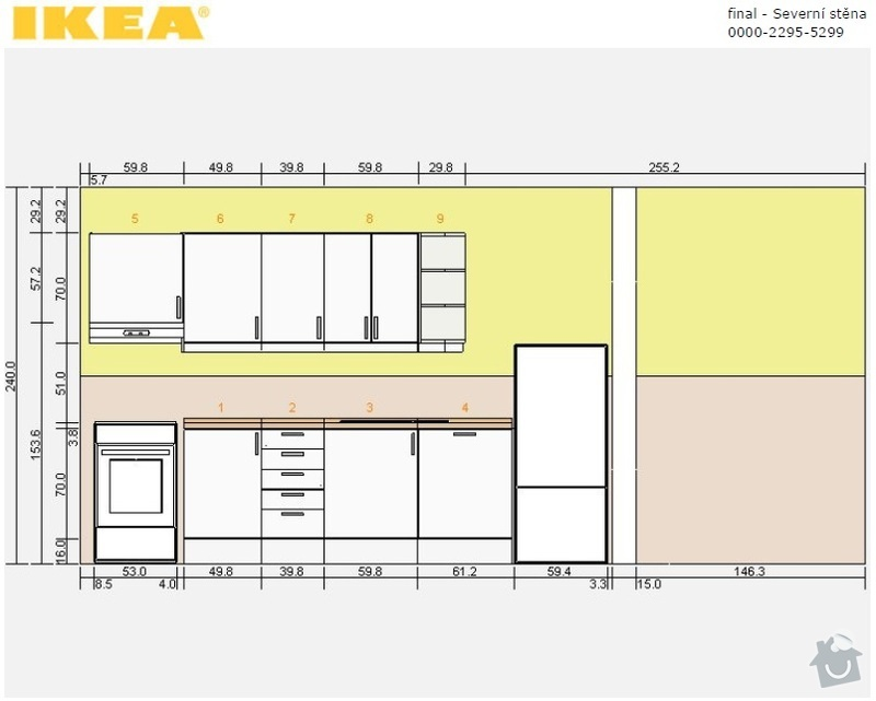 Instalace nové kuchyňské linky: linka