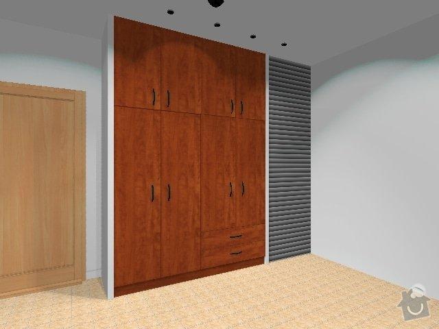 Šatní skříň a šatní stěna: verze_dvere_supliky