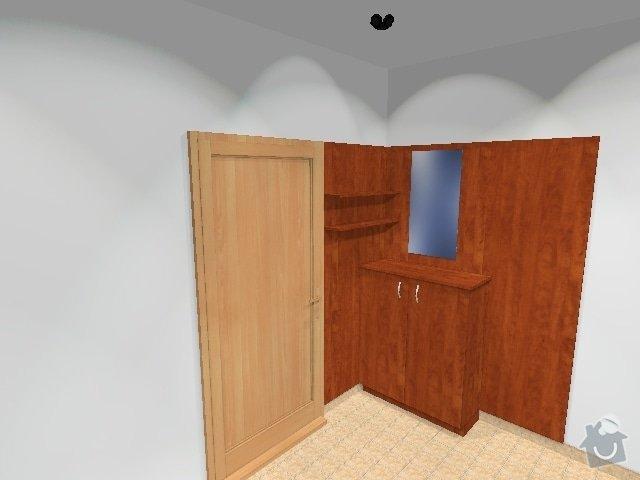 Šatní skříň a šatní stěna: botnik-obklad
