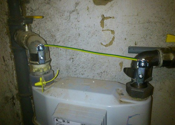 Ochranné pospojení plynoměrů