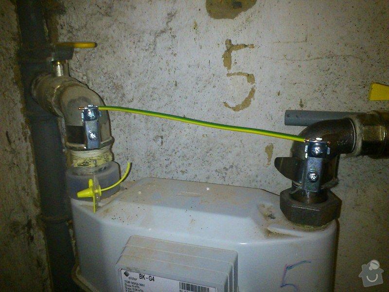 Ochranné pospojení plynoměrů: 1