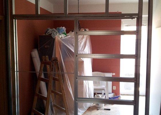 Rekonstrukce bytu - montáže sádrokartonu, osazení bojleru + nové otopné těleso, nové rozvody elektro