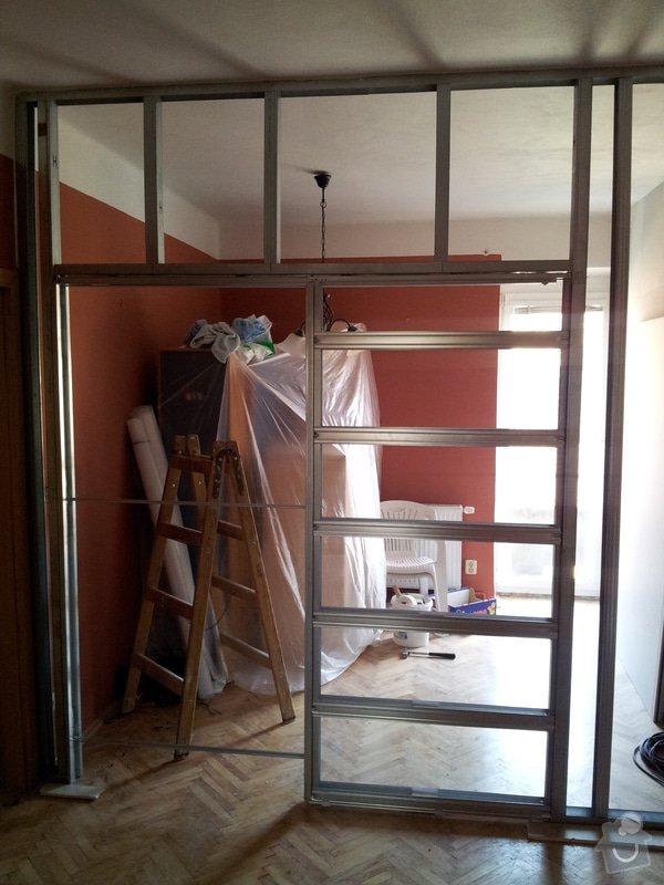 Rekonstrukce bytu - montáže sádrokartonu, osazení bojleru + nové otopné těleso, nové rozvody elektro  : Ber._3