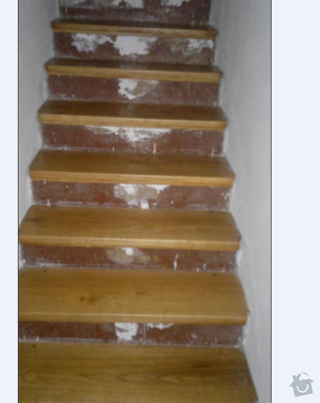 Dřevěné schodiště - postranice, podesty: schody2