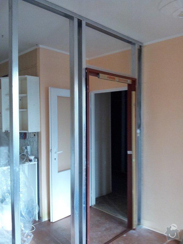 Přepažení místnosti: 20120123_112953