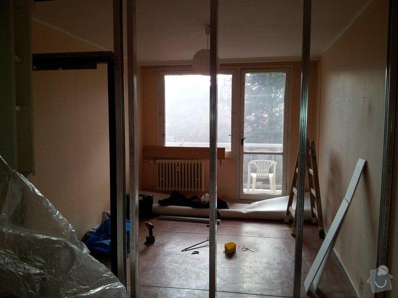 Přepažení místnosti: 20120123_113012