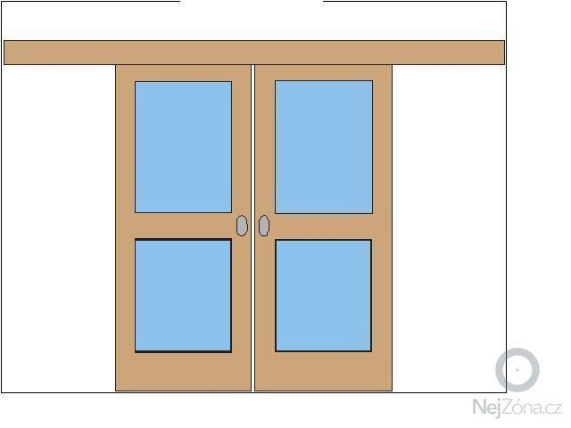 Soupaci/posuvne dvere na stenu-dvoukridle: Posuvne_dvere_na_zed