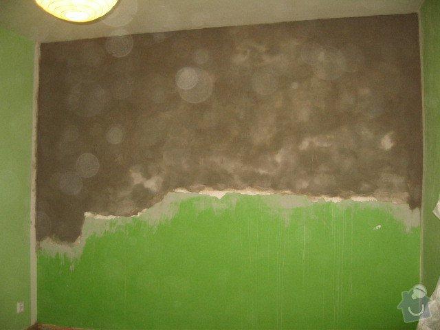 Sanace omítek, oprava sádrokartonového podhledu, zazdění výklenku, malířské práce: IMG_1739