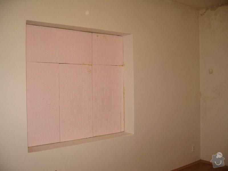 Sanace omítek, oprava sádrokartonového podhledu, zazdění výklenku, malířské práce: IMG_1713