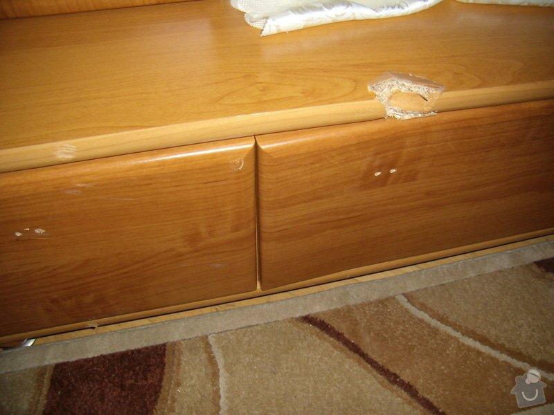 Oprava laminátové obývací stěny po stěhování: P2160485