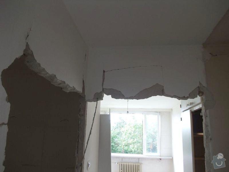Bourací a zednické práce, instalatérské práce: futra-vyrizneme-pilou