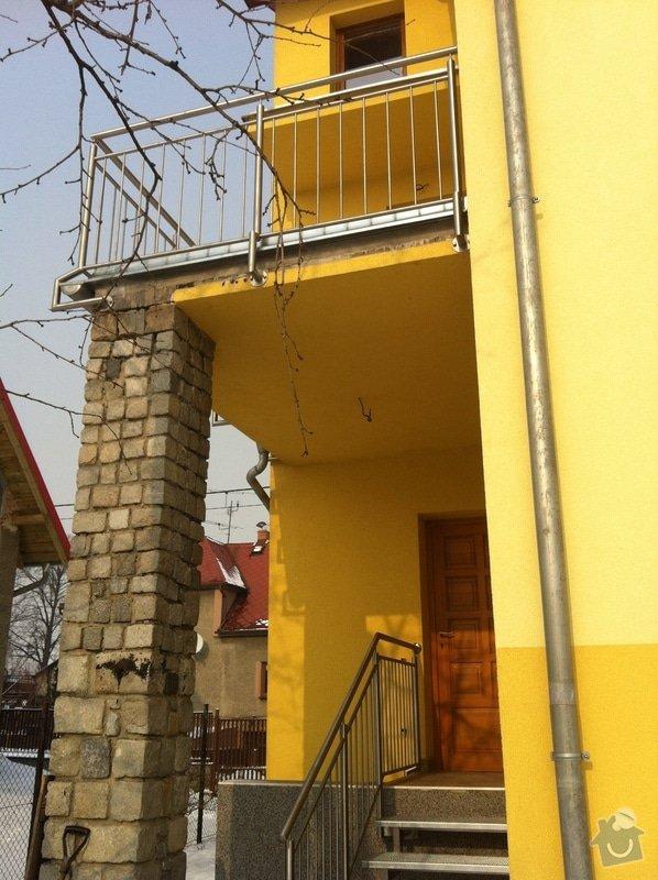 Nerezové zábradlí balkónu a nerezové schody: IMG_2995