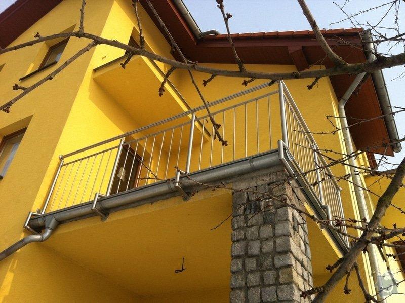 Nerezové zábradlí balkónu a nerezové schody: IMG_2996