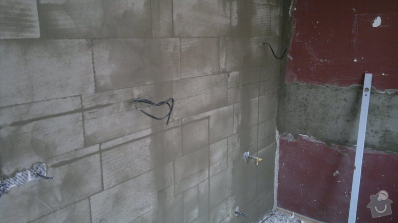 Přestavba SDK bytového jádra za zděné+rekonstrukce kuchyně a chodby: 111020112316