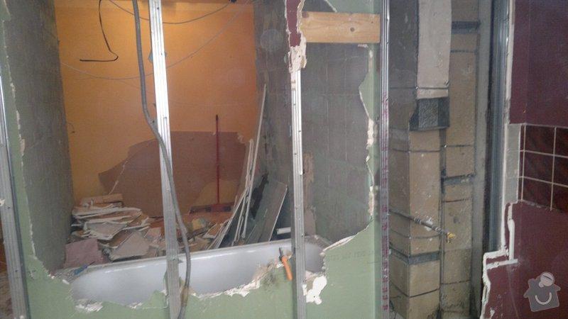 Přestavba SDK bytového jádra za zděné+rekonstrukce kuchyně a chodby: 071020112277