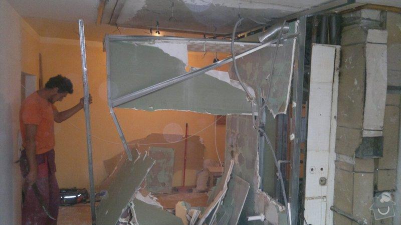 Přestavba SDK bytového jádra za zděné+rekonstrukce kuchyně a chodby: 071020112290