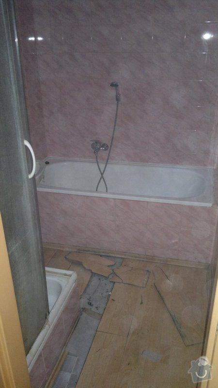 Přestavba SDK bytového jádra za zděné+rekonstrukce kuchyně a chodby: 051020112268