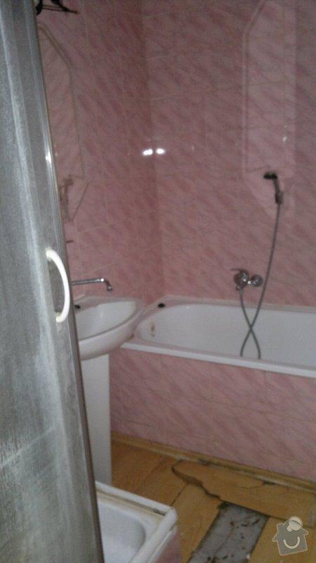 Přestavba SDK bytového jádra za zděné+rekonstrukce kuchyně a chodby: 270920112207