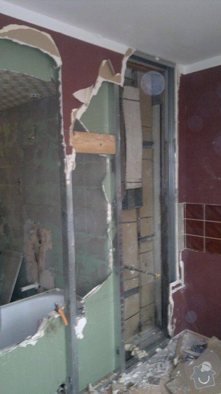 Přestavba SDK bytového jádra za zděné+rekonstrukce kuchyně a chodby: 071020112279