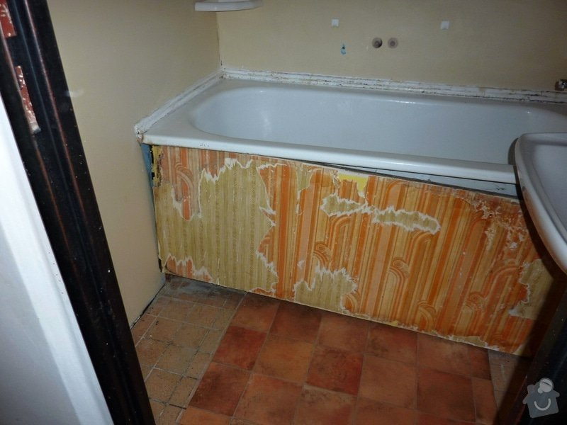 Kompletní rekonstrukce panel. bytu 3+1: Unicov-koupelna-pred