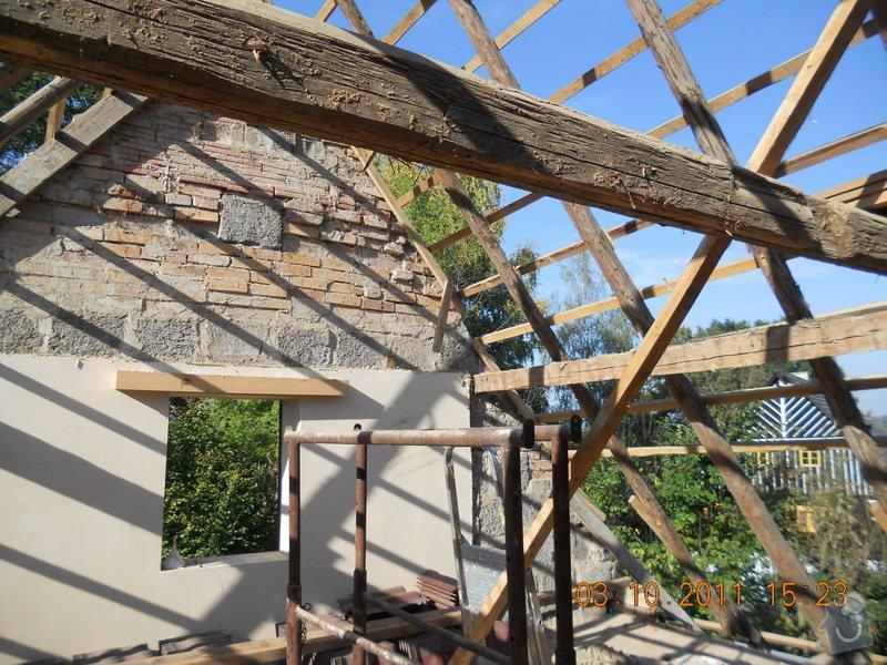 Rekonstrukce patra rodinného domu včetně výměny dřevěných částí střechy: DSCN0212
