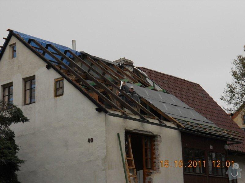 Rekonstrukce patra rodinného domu včetně výměny dřevěných částí střechy: DSCN0236