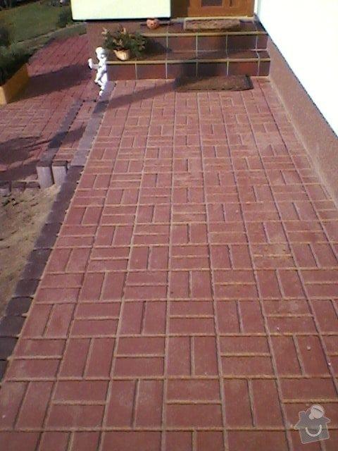 Teréní úpravy,zámková dlažba+obložení schodů: SP_A0060