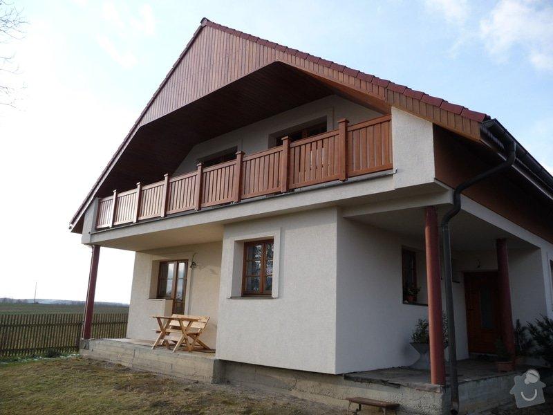 Dřevěné zábradlí balkónu zábradlí typ TABOR: P1050775