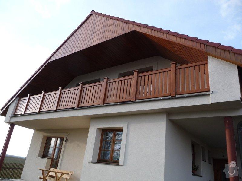 Dřevěné zábradlí balkónu zábradlí typ TABOR: P1050777