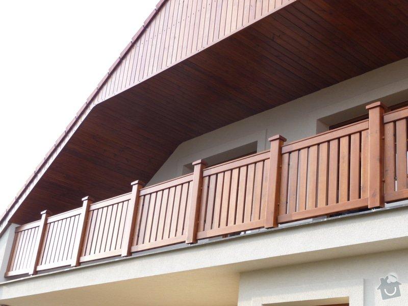 Dřevěné zábradlí balkónu zábradlí typ TABOR: P1050778
