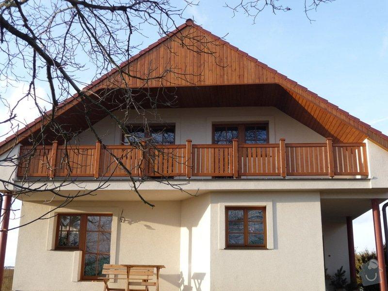 Dřevěné zábradlí balkónu zábradlí typ TABOR: P1050780