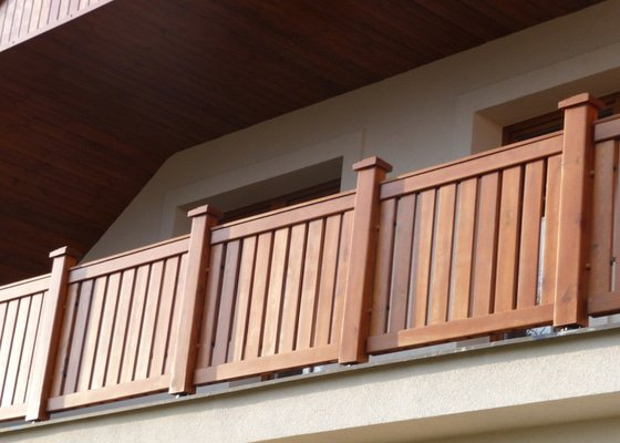 Dřevěné zábradlí balkónu zábradlí typ TABOR