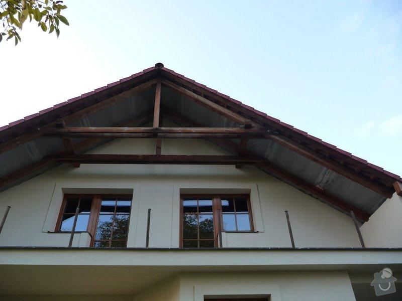 Dřevěné zábradlí balkónu zábradlí typ TABOR: P1050651