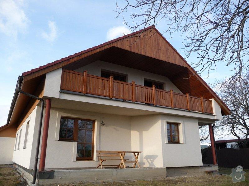 Dřevěné zábradlí balkónu zábradlí typ TABOR: P1050776