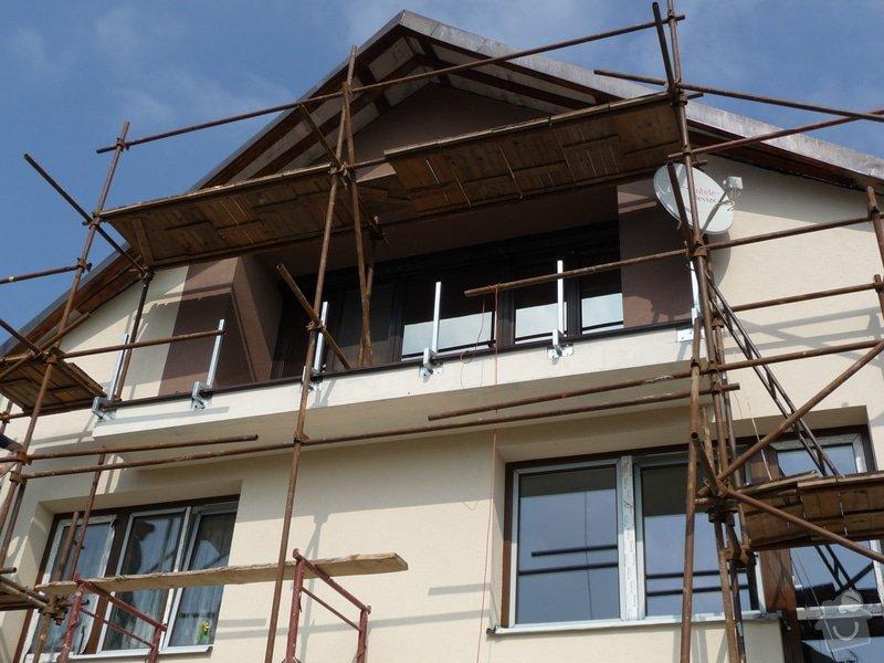 Dřevěné zábradlí balkónu zábradlí s truhlíkem typ TYP SCHWANZENBERG: P1050528