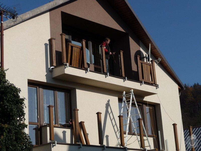 Dřevěné zábradlí balkónu zábradlí s truhlíkem typ TYP SCHWANZENBERG: P1050709