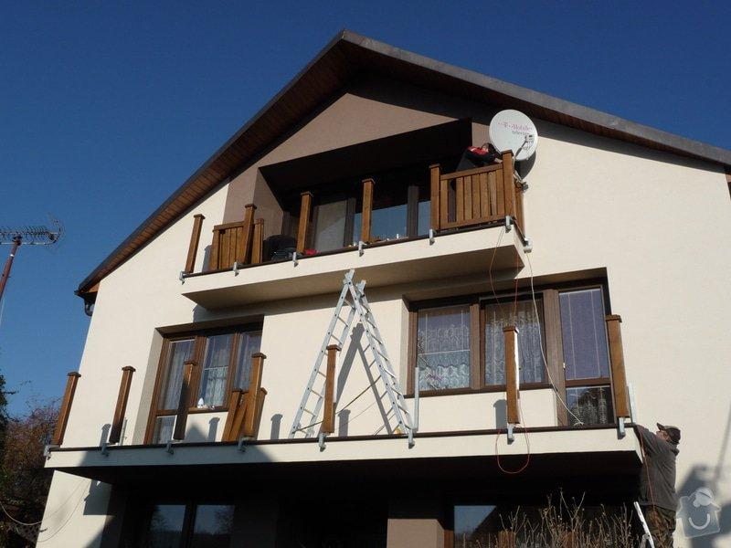 Dřevěné zábradlí balkónu zábradlí s truhlíkem typ TYP SCHWANZENBERG: P1050711